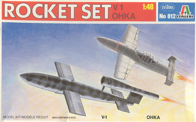 rocket set v1 ohka model 11 italeri 148